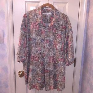 Perry Ellis XL Rayon Shirt Vintage